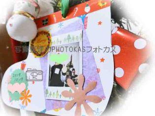 クリスマス写真デコしてオーナメント作りアルバムカフェ1_写真整理フォトカスphotokas